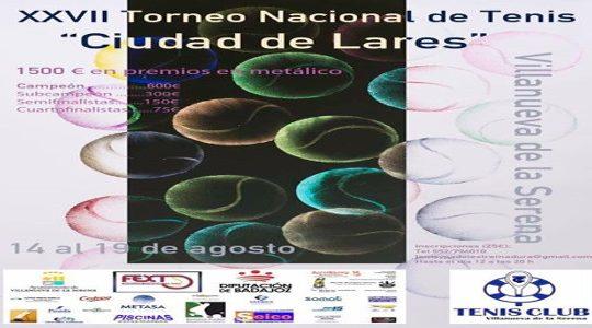 """XXVII edición del Torneo Nacional de tenis """"Ciudad de Lares"""""""
